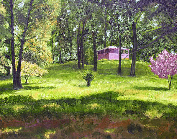 Landscape Art Print featuring the painting T C Steels by Stan Hamilton