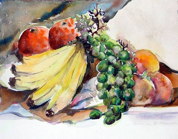 Fruit Art Print featuring the painting Thanksgiving by Mindy Newman