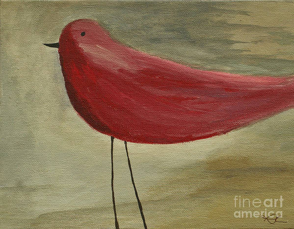 Bird Art Print featuring the painting The Bird - Original by Variance Collections