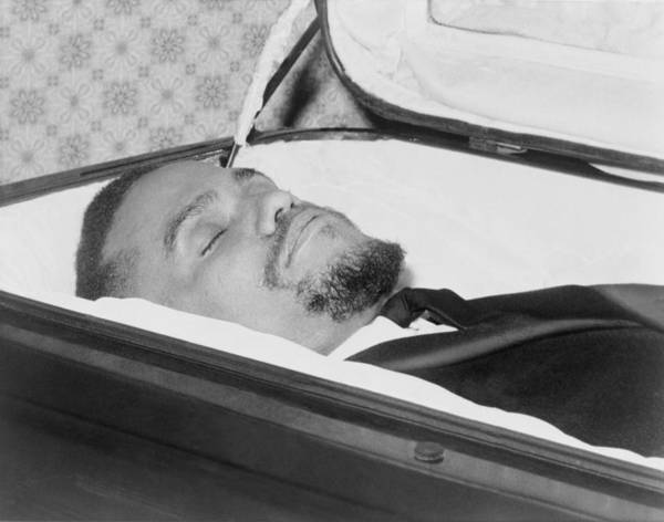 History Art Print featuring the photograph The Body Of Malcolm X, Slain Negro by Everett