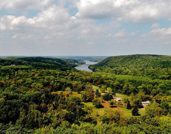 The Delaware River Valley Art Print featuring the digital art The Delaware River Valley by Val Arie