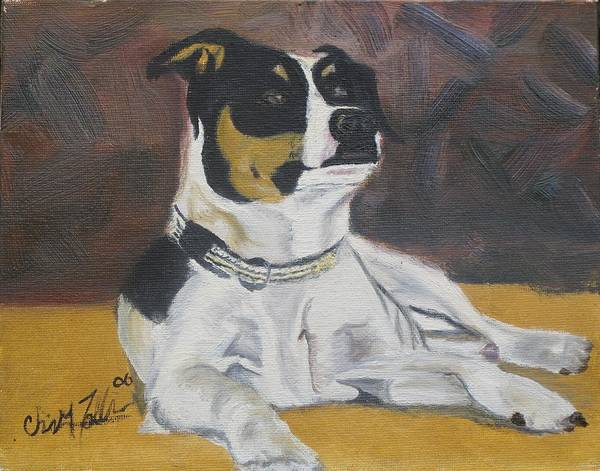 Animals Art Print featuring the painting The Dog Yo by ChrisMoses Tolliver