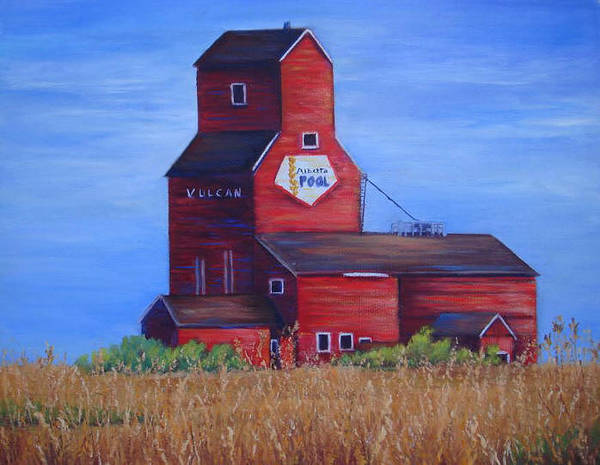 Landscape - Historical Art Print featuring the painting The Elevator by Maxine Ouellet