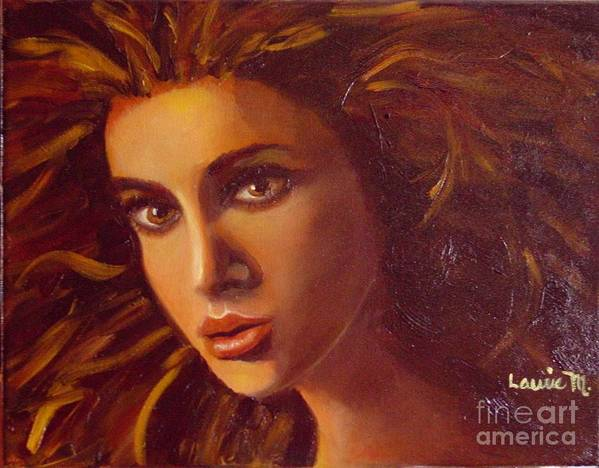 Portrait Art Print featuring the painting The Oracle by Laurie Morgan
