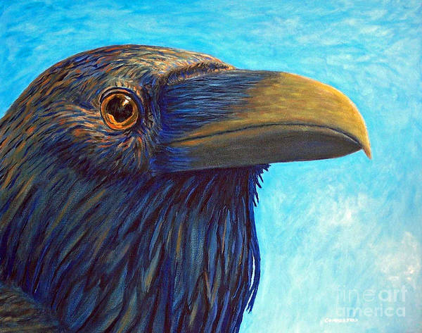 Raven Art Print featuring the painting The Prophet by Brian Commerford