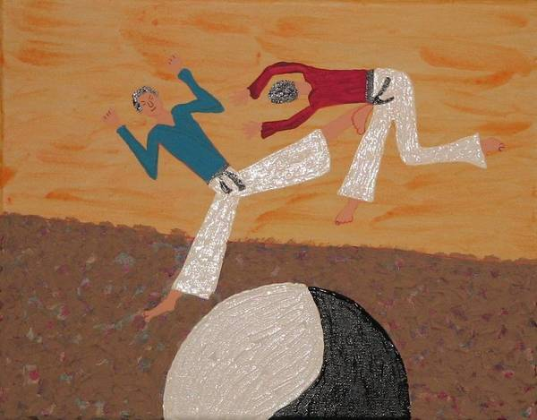 Karate Art Print featuring the painting The Ying Yang Beating by Gregory Davis