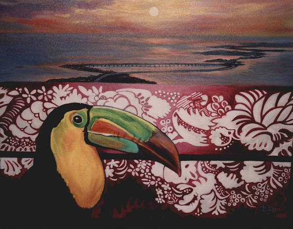 Bird Art Print featuring the painting Toucan by Diann Baggett