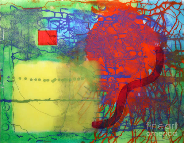 Abstract Art Print featuring the painting Transit by Mordecai Colodner