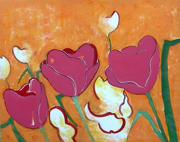 Tulpen Art Print featuring the painting Tulpen 69 by Hans Van Weeren