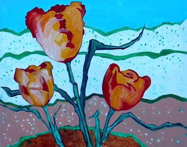 Tulpen Art Print featuring the painting Tulpen 71 by Hans Van Weeren