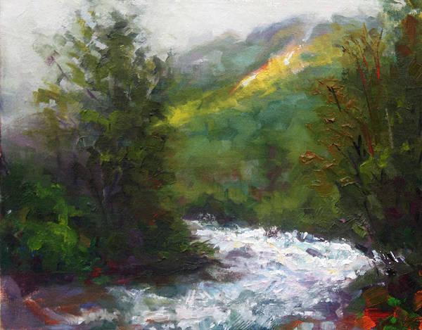 Little Art Print featuring the painting Turbulence by Talya Johnson