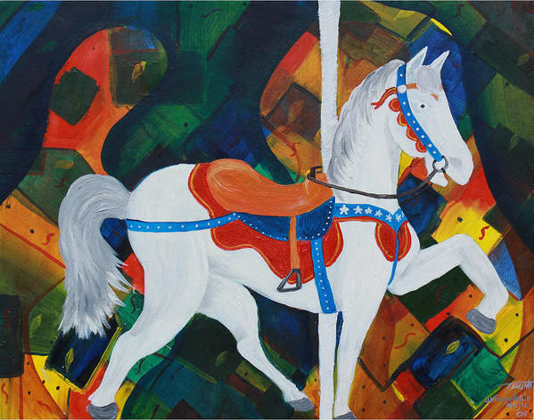 Horse Art Print featuring the painting Unforgettable Magic by Tammy Dunn