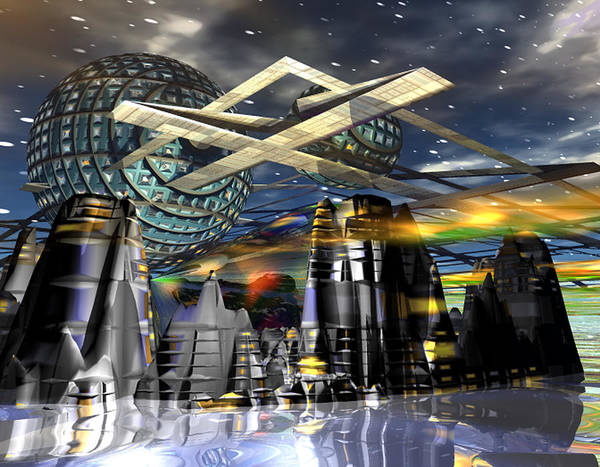 Galaxy Art Print featuring the digital art Universal World by Mason BenYair