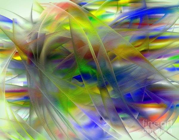 Veils Art Print featuring the digital art Veils Of Color 2 by Greg Moores