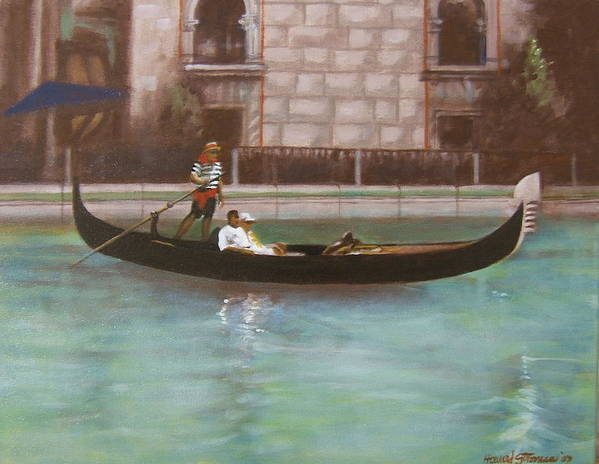 Smooth Sailing Art Print featuring the painting Venetian by Howard Stroman