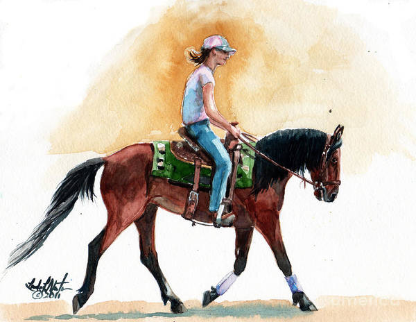 Wild Horse Art Print featuring the painting Versatility by Linda L Martin