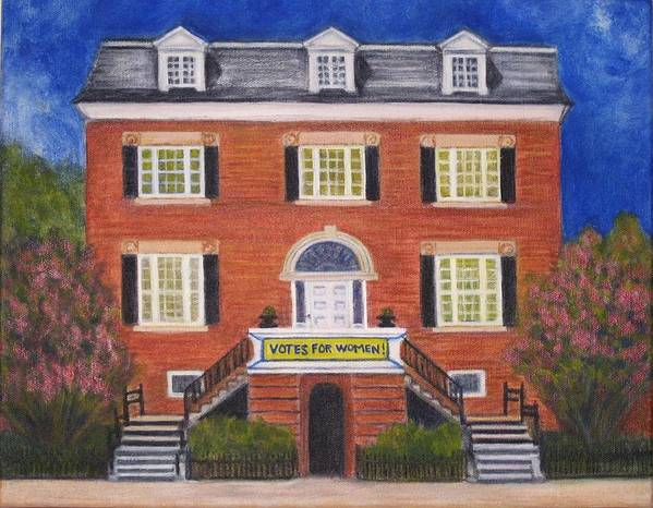 House Art Print featuring the painting Votes For Women by Patricia Ortman