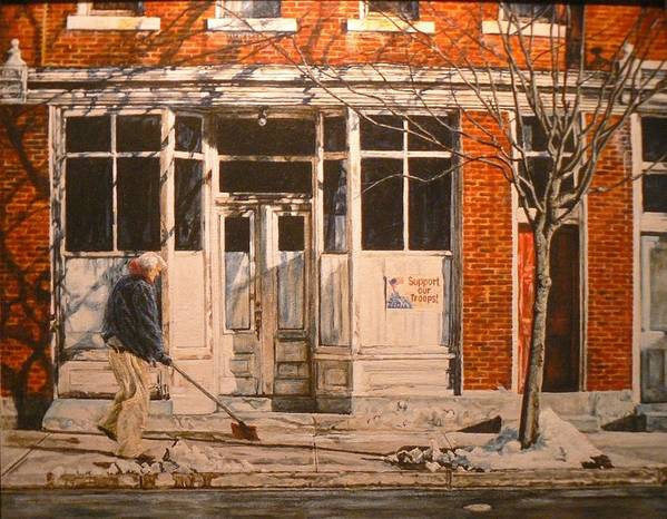 Appalachian Life Art Print featuring the painting War At Home by Thomas Akers