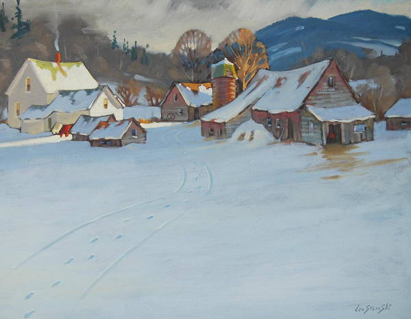 Berkshire Hills Paintings Art Print featuring the painting Wash Day by Len Stomski