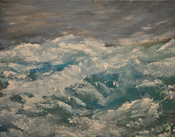 Waves Art Print featuring the painting Waves by Evelina Popilian