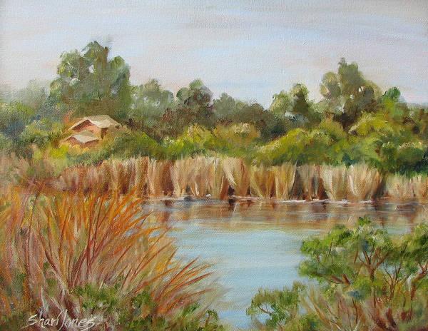 Landscape Art Print featuring the painting Wildlife Preserve by Shari Jones