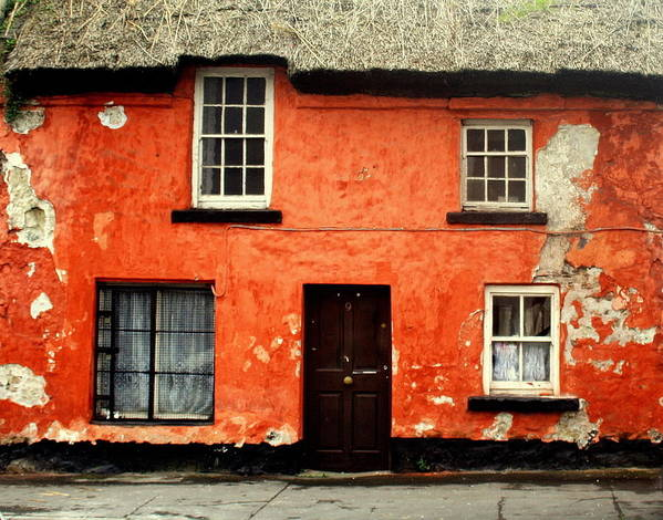 Old House Art Print featuring the photograph Windows-galway by Rosemen Elsayad