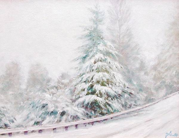 Winter Landscape Art Print featuring the painting Winter Of 04 by Jim Gola