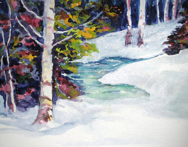 Winter Art Print featuring the painting Winter's Solace by Mary Sonya Conti