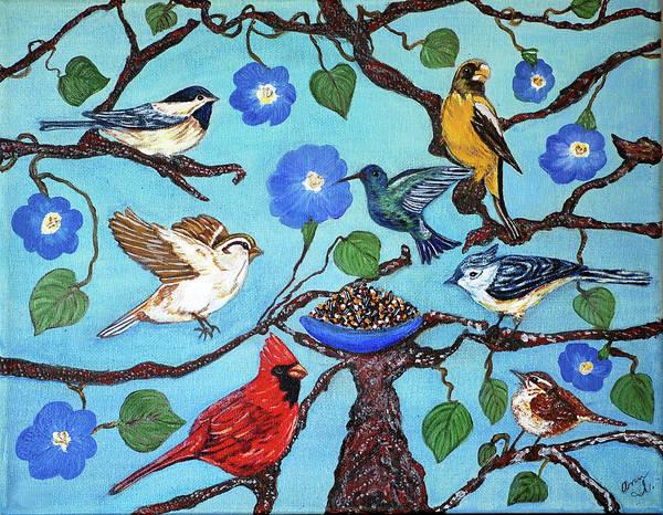 Birds Art Print featuring the painting Wonderland by Ann Ingham