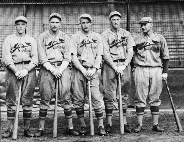 St. Louis Cardinals Art Print featuring the photograph 1926 St. Louis Cardinals by Hulton Archive
