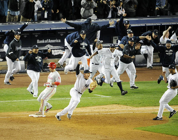American League Baseball Art Print featuring the photograph New York Yankees Mark Teixeira Makes by New York Daily News Archive