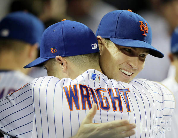 Jacob Degrom Art Print featuring the photograph Jacob Degrom And David Wright by Elsa