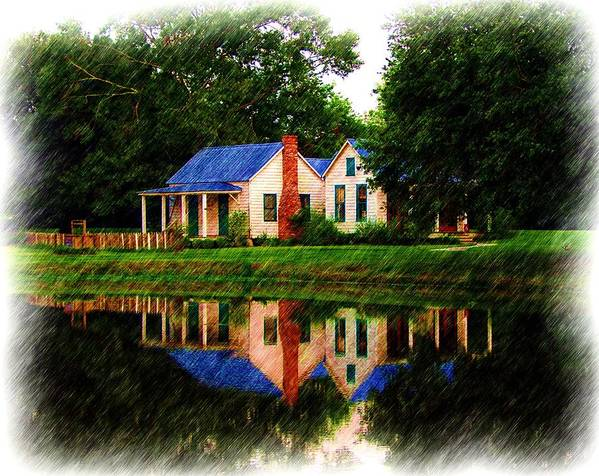 Landscape Art Print featuring the photograph Cajun Home by Ronald Olivier