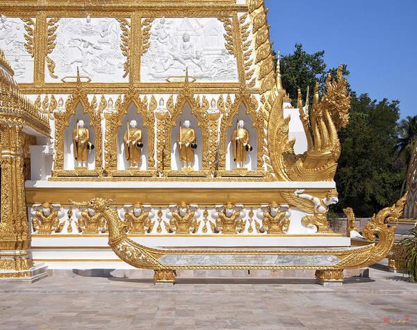 Scenic Art Print featuring the photograph Wat Nong Bua East Side Of Main Stupa Base Dthu449 by Gerry Gantt