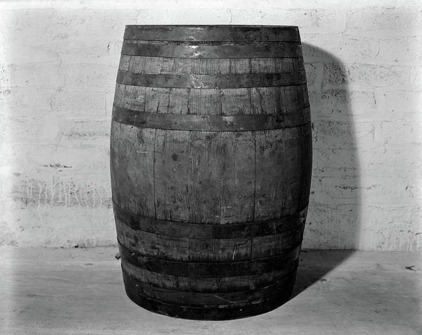 Photography Art Print featuring the photograph 1930s 1933 Single Wooden Whisky Barrel by Vintage Images