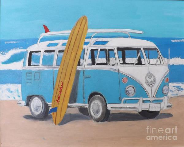 1965 Vw Bus Art Print By Marcus Hudson
