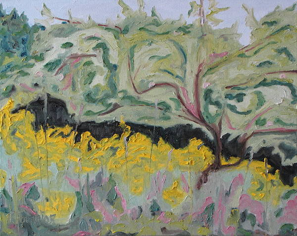Fournier Art Print featuring the painting The Apple Tree And The Golden Rods by Francois Fournier