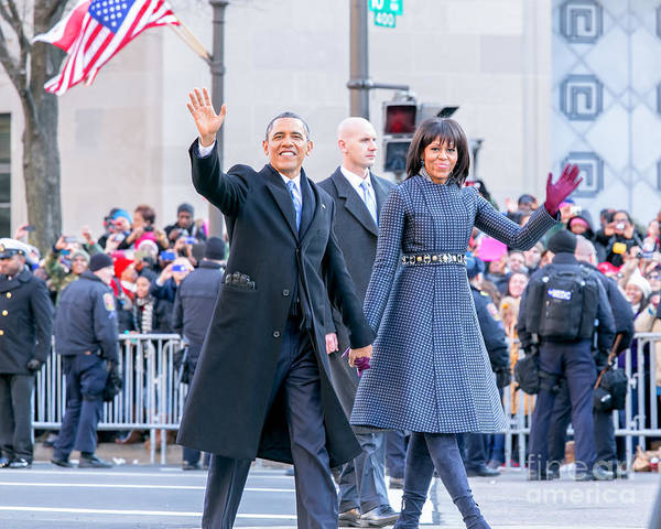 Obama Art Print featuring the photograph 2013 Inaugural Parade by Ava Reaves