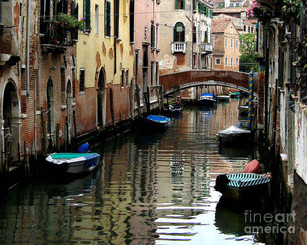 Italy Art Print featuring the photograph Calm Canal In Venice by Jennie Breeze