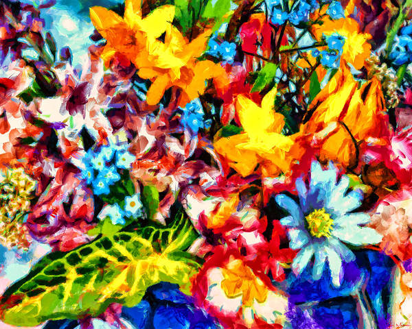 Midnight Streets Art Print featuring the painting A Day In Spring by Joe Misrasi