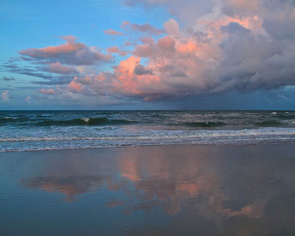 Beach Art Print featuring the photograph Amelia's Sunset by Paula Porterfield-Izzo