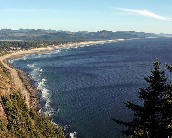 Oregon Coast Art Print featuring the photograph An Oregon View Point by Chris Anderson
