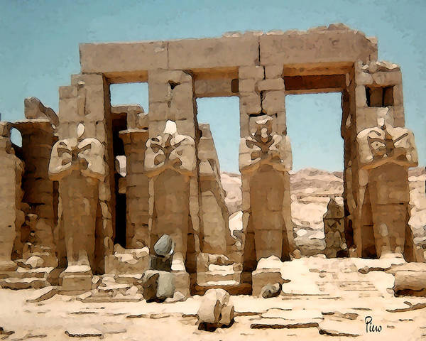 Art Art Print featuring the photograph Ancient Egypt by Piero Lucia