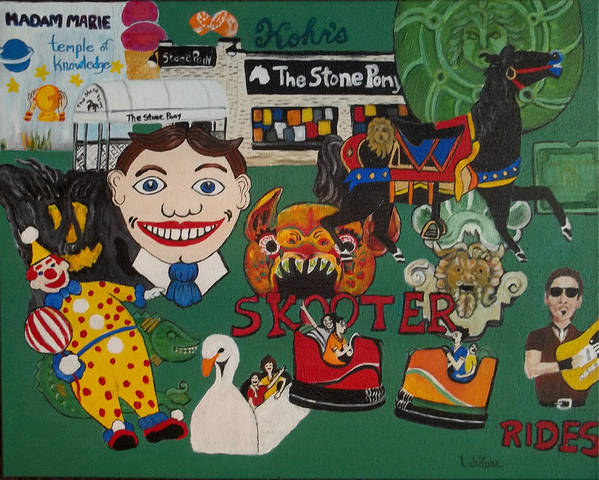 Asbury Park Art Print featuring the painting Asbury Park Days Gone By by Norma Tolliver