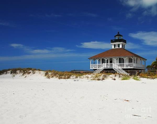 Boca Grande Lighthouse Art Print featuring the photograph Boca Grande Lighthouse by Mel Steinhauer