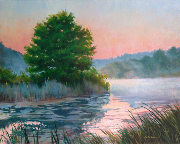 Impressionism Art Print featuring the painting Break Of Day by Keith Burgess