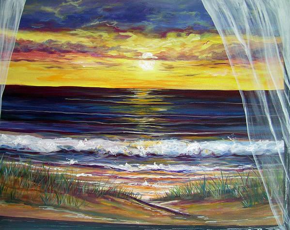 Coastal Art Print featuring the painting Breezy May by Dawn Gray Moraga