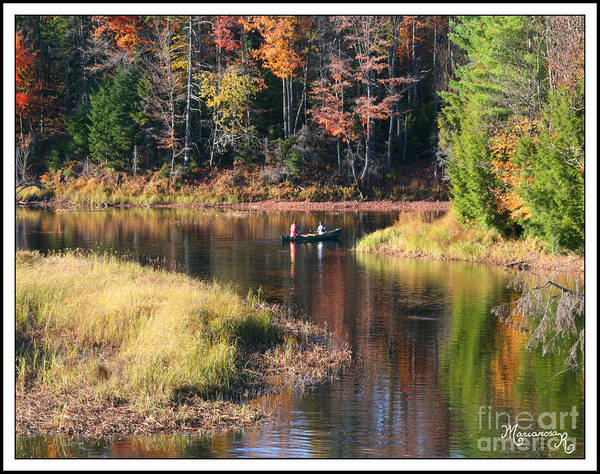 Fall Art Print featuring the photograph Canoeing In The Fall by Mariarosa Rockefeller