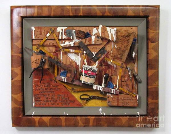 Czappa Art Print featuring the relief Carpenters Lament #15 by Bill Czappa