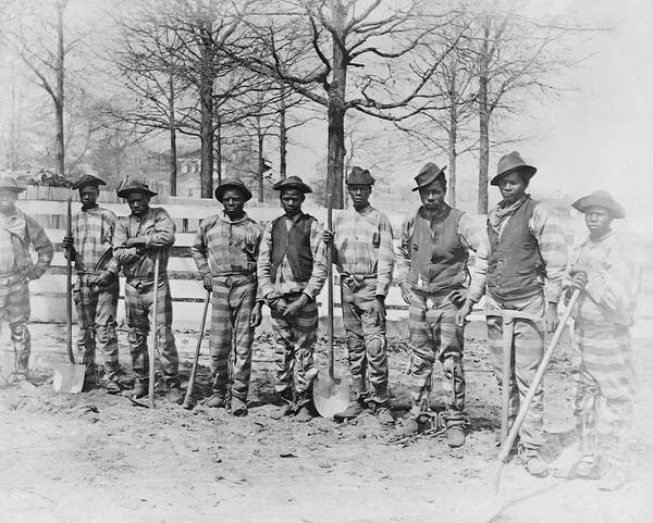 Chain Gang Art Print featuring the photograph Chain Gang C. 1885 by Daniel Hagerman